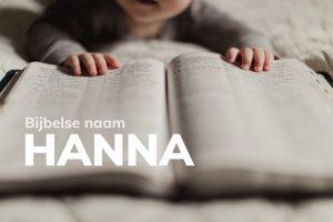 Bijbelse naam Hanna