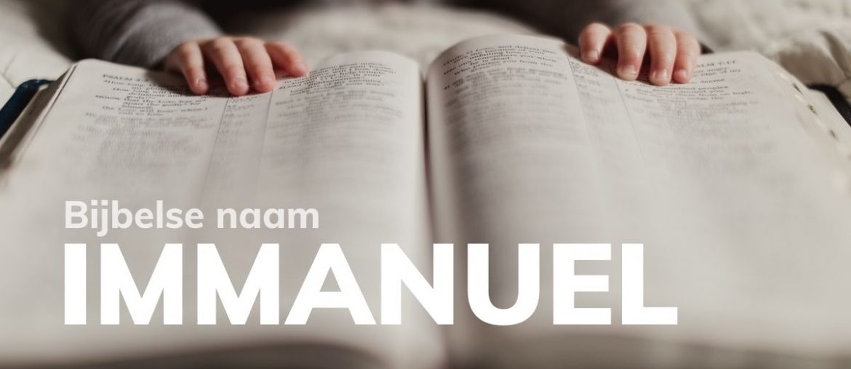 Bijbelse naam Immanuel