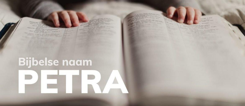 Bijbelse naam Petra