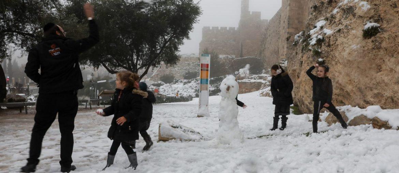 Sneeuw in Jeruzalem
