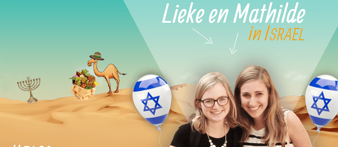 Lieke en Mathilde in Israel blog header